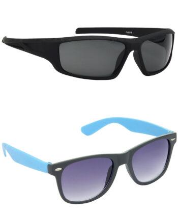 Air Strike Grey Lens Black & Blue Frame Latest Goggles For Men & Boys - HCMBO8966