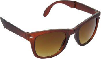 Air Strike Brown Lens Brown Frame Rectangular Stylish For Sunglasses Men Women Boys Girls