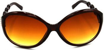 Air Strike Brown Lens Brown Frame Round Sunglass Stylish For Sunglasses Women & Girls - extra