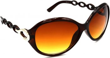 Air Strike Brown Lens Brown Frame Round Sunglass Stylish For Sunglasses Women & Girls
