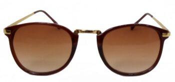 Air Strike Brown Lens Golden Frame Round Sunglass Stylish For Sunglasses Men Women Boys Girls - extra