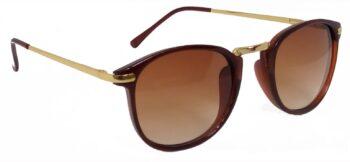 Air Strike Brown Lens Golden Frame Round Sunglass Stylish For Sunglasses Men Women Boys Girls