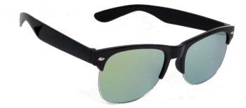 Air Strike Golden Lens Black Frame Rectangular Stylish For Sunglasses Men Women Boys Girls
