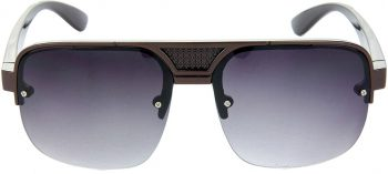 Air Strike Black Lens Brown Frame Rectangular Sunglass Stylish For Sunglasses Men Women Boys Girls - extra