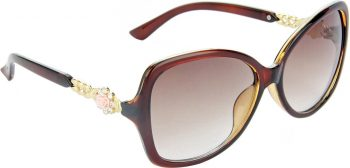 Air Strike Brown Lens Brown Frame Over-sized Sunglass Stylish For Sunglasses Women & Girls