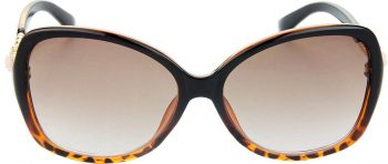 Air Strike Clear Lens Brown Frame Over-sized Sunglass Stylish For Sunglasses Women & Girls - extra