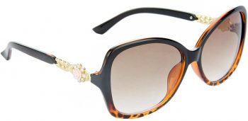 Air Strike Clear Lens Brown Frame Over-sized Sunglass Stylish For Sunglasses Women & Girls