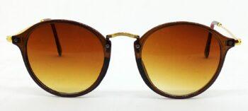 Air Strike Brown Lens Brown & Golden Frame Wrap-around Sunglass Stylish For Sunglasses Men Women Boys Girls - extra