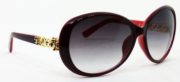 Air Strike Grey Lens Red Frame Wrap-around Sunglass Stylish For Sunglasses Women & Girls