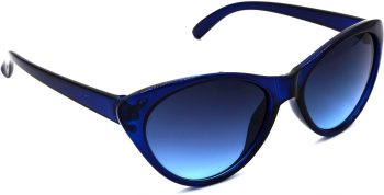 Air Strike Blue Lens Blue Frame Cat-eye Sunglass Stylish For Sunglasses Women & Girls