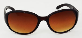 Air Strike Clear Lens Brown Frame Oval Sunglass Stylish For Sunglasses Women & Girls - extra