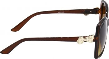 Air Strike Clear Lens Brown Frame Over-sized Sunglass Stylish For Sunglasses Women & Girls - extra 1