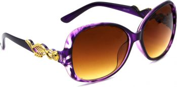 Air Strike Clear Lens Transparent Frame Over-sized Sunglass Stylish For Sunglasses Women & Girls