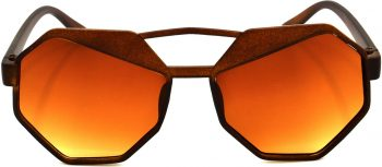 Air Strike Brown Lens Brown Frame Round Sunglass Stylish For Sunglasses Men Women Boys Girls - extra