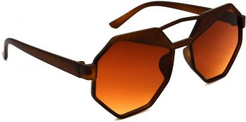 Air Strike Brown Lens Brown Frame Round Sunglass Stylish For Sunglasses Men Women Boys Girls