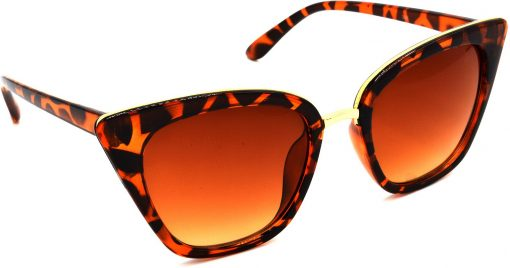 Air Strike Brown Lens Brown Frame Cat-eye Sunglass Stylish For Sunglasses Women & Girls