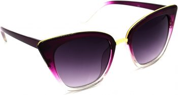 Air Strike Grey Lens Violet Frame Cat-eye Sunglass Stylish For Sunglasses Women & Girls