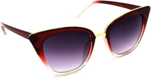 Air Strike Grey Lens Transparent Frame Cat-eye Sunglass Stylish For Sunglasses Women & Girls