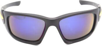 Air Strike Blue Lens Black Frame Sports Sunglass Stylish For Sunglasses Men Women Boys Girls - extra