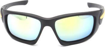 Air Strike Silver Lens Black Frame Sports Sunglass Stylish For Sunglasses Men Women Boys Girls - extra
