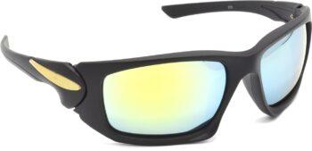 Air Strike Silver Lens Black Frame Sports Sunglass Stylish For Sunglasses Men Women Boys Girls
