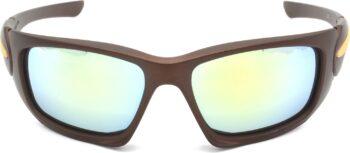 Air Strike Silver Lens Brown Frame Sports Sunglass Stylish For Sunglasses Men Women Boys Girls - extra