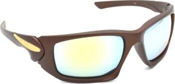 Air Strike Silver Lens Brown Frame Sports Sunglass Stylish For Sunglasses Men Women Boys Girls