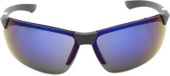 Air Strike Blue Lens Silver Frame Sports Sunglass Stylish For Sunglasses Men Women Boys Girls - extra