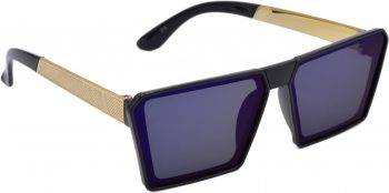 Air Strike Blue Lens Blue Frame Rectangular Sunglass Stylish For Sunglasses Men Women Boys Girls