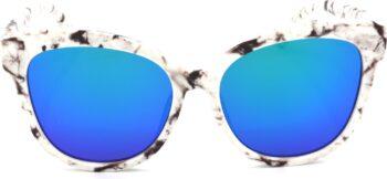 Air Strike Blue Lens White Frame Round Sunglass Stylish For Sunglasses Women & Girls - extra