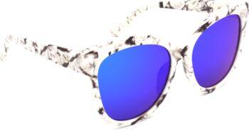 Air Strike Blue Lens White Frame Round Sunglass Stylish For Sunglasses Women & Girls