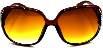 Air Strike Brown Lens Silver Frame Round Sunglass Stylish For Sunglasses Women & Girls - extra