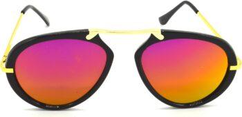 Air Strike Pink Lens Golden Frame Wrap-around Sunglass Stylish For Sunglasses Men Women Boys Girls - extra
