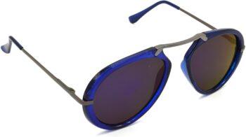 Air Strike Blue Lens Grey Frame Wrap-around Sunglass Stylish For Sunglasses Men Women Boys Girls