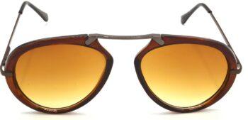 Air Strike Clear Lens Brown Frame Wrap-around Sunglass Stylish For Sunglasses Men Women Boys Girls - extra