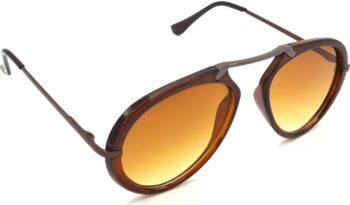 Air Strike Clear Lens Brown Frame Wrap-around Sunglass Stylish For Sunglasses Men Women Boys Girls