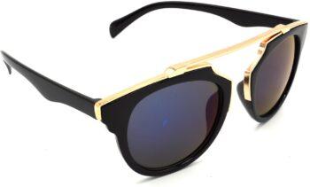 Air Strike Grey Lens Golden Frame Wrap-around Sunglass Stylish For Sunglasses Men Women Boys Girls