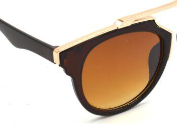 Air Strike Brown Lens Golden Frame Wrap-around Sunglass Stylish For Sunglasses Men Women Boys Girls - extra 3