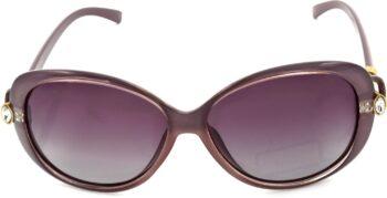 Air Strike Polarized Pink Lens Pink Frame Rectangular Sunglass Stylish Polarized Sunglasses For Women & Girls - extra