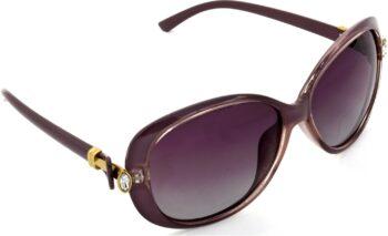 Air Strike Polarized Pink Lens Pink Frame Rectangular Sunglass Stylish Polarized Sunglasses For Women & Girls