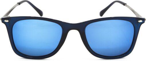 Air Strike Silver Lens Golden Frame Rectangular Stylish For Sunglasses Men Women Boys Girls - extra