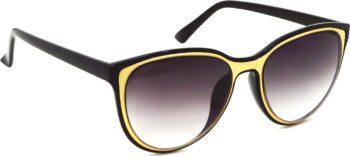 Air Strike Black Lens Multicolor Frame Rectangular Stylish Sunglasses For Men Women Boys Girls