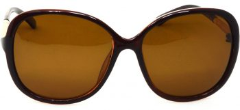 Air Strike Brown Lens Multicolor Frame Oval Sunglass Stylish Sunglasses For Women & Girls - extra
