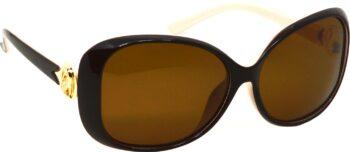 Air Strike Brown Lens Multicolor Frame Oval Sunglass Stylish Sunglasses For Women & Girls