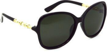 Air Strike Black Lens Multicolor Frame Oval Sunglass Stylish Sunglasses For Women & Girls