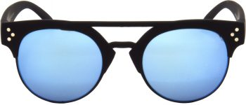Air Strike Blue Lens Black Frame Clubmaster Stylish For Sunglasses Men Women Boys Girls - extra