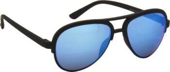 Air Strike Blue Lens Black Frame Clubmaster Stylish For Sunglasses Men Women Boys Girls