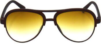 Air Strike Brown Lens Brown Frame Clubmaster Stylish For Sunglasses Men Women Boys Girls - extra