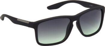Air Strike Grey Lens Black Frame Retro Square Sunglass Stylish For Sunglasses Men Women Boys Girls