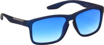 Air Strike Clear Lens Blue Frame Retro Square Sunglass Stylish For Sunglasses Men Women Boys Girls